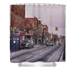 Dr Who In Ypsilanti Shower Curtain