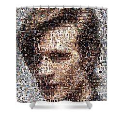Dr. Who Mosaic Shower Curtain by Paul Van Scott