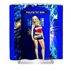 Doctor Who - Tardis And Rose Tyler Shower Curtain