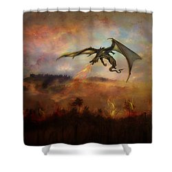 Dracarys Shower Curtain by Lilia D
