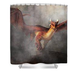 Shower Curtain featuring the digital art Draco by Daniel Eskridge