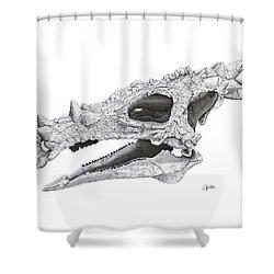 Dracorex Hogwartsia Skull Shower Curtain