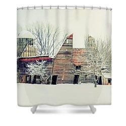 Drafty Old Barn Shower Curtain