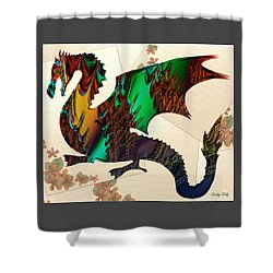 Drago Shower Curtain by Kathy Kelly