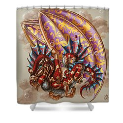 Dragon And A Ladybird Shower Curtain