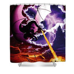 Dragon Attack Shower Curtain by The Dragon Chronicles - Steve Re