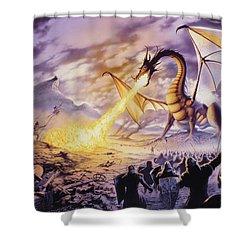 Dragon Battle Shower Curtain