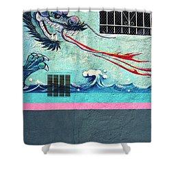 Dragon Breath Shower Curtain by Jan W Faul