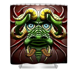 Dragon Cow Shower Curtain