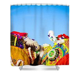 Dragon Dance Shower Curtain by Bobby Villapando