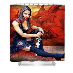 Dragon Dawn Shower Curtain