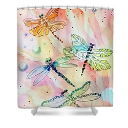 Shower Curtain featuring the painting Dragon Diversity by Denise Tomasura