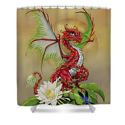 Shower Curtain featuring the digital art Dragon Fruit Dragon by Stanley Morrison