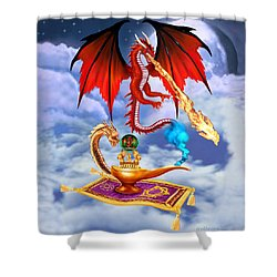Dragon Genie Shower Curtain by Glenn Holbrook
