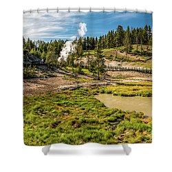 Dragon Geyser At Yellowstone Shower Curtain