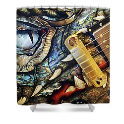 Dragon Guitar Prs Shower Curtain