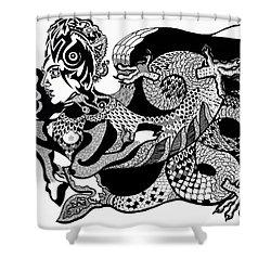 Dragon Lady Shower Curtain by Yelena Tylkina