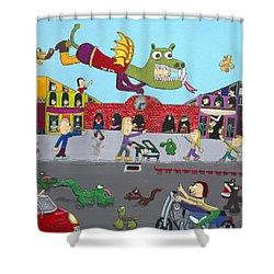 Dragon Man Shower Curtain