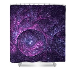 Dragon Nebula Reloaded Shower Curtain