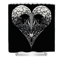 Dragon Of Hearts Shower Curtain
