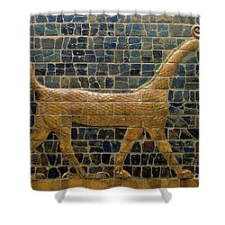 Dragon Of Marduk - On The Ishtar Gate Shower Curtain by Anonymous