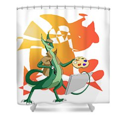 Dragon Painter Shower Curtain