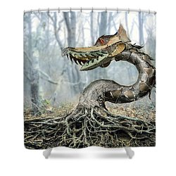 Dragon Root Shower Curtain
