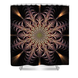 Dragon Seal Shower Curtain by Anastasiya Malakhova