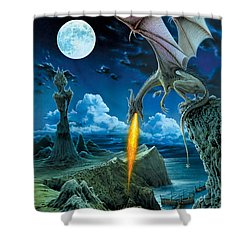 Dragon Spit Shower Curtain by The Dragon Chronicles - Robin Ko