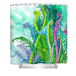 Dragon Sprouts Shower Curtain