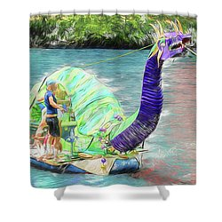 Dragon The Line Shower Curtain