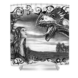Dragon Whisperer  Shower Curtain by Peter Piatt