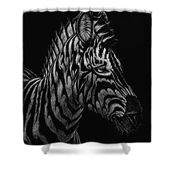 Shower Curtain featuring the painting Dragon Zebra by Stanley Morrison