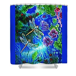 Dragonflies Shower Curtain by Hartmut Jager