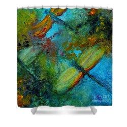 Dragonflies Shower Curtain by Karen Fleschler