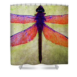 Shower Curtain featuring the photograph Dragonfly 7 by Timothy Bulone