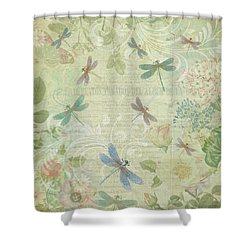 Dragonfly Dream Shower Curtain by Peggy Collins