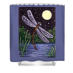 Dragonfly Dreaming Shower Curtain by Sandra Estes