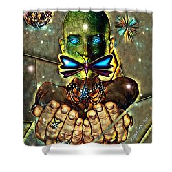 Dragonfly Empath Shower Curtain