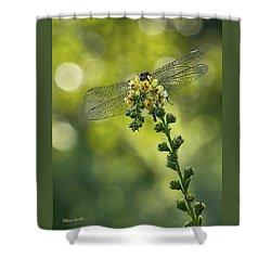 Dragonfly Flower Shower Curtain