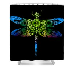 Dragonfly Kaleidoscope Shower Curtain