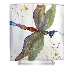 Shower Curtain featuring the painting Dragonfly by Lucia Grilletto