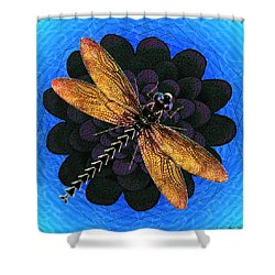 Dragonfly Snookum Shower Curtain by Iowan Stone-Flowers