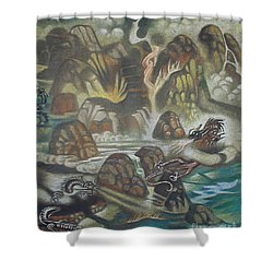 Dragon's Breath Shower Curtain