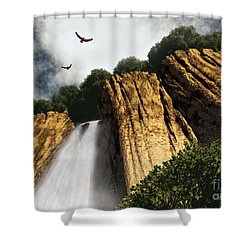 Dragons Den Canyon Shower Curtain by Richard Rizzo
