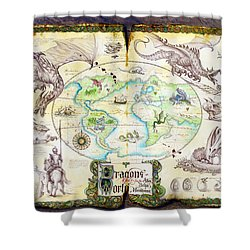 Dragons Of The World Shower Curtain by The Dragon Chronicles - Garry Wa