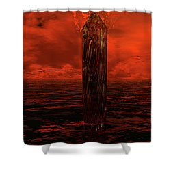 Dragon's Spire Shower Curtain