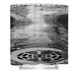 Drained Shower Curtain by Lauri Novak