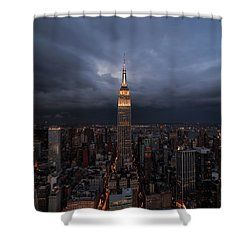 Drama In The City  Shower Curtain