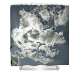 Drama In The Sky Shower Curtain by Karen Stahlros